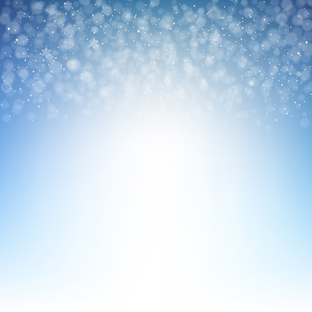 Winter Background With Gradient Mesh, Vector Illustration