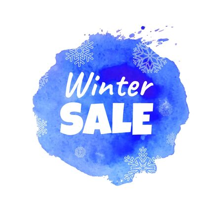 Winter Sale Blot, Vector Illustration Illustration