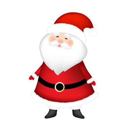 Santa Claus With Gradient Mesh, Vector Illustration