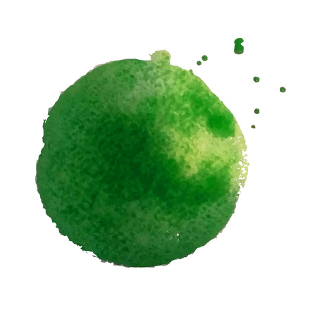 spill: Green Blot, Vector Illustration