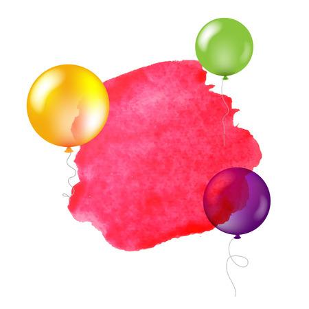 Happy Birthday Banner With Gradient Mesh, Vector Illustration