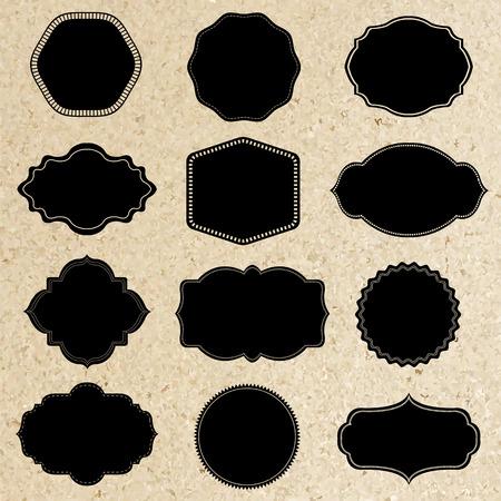 Retro Labels Set With Gradient Mesh, Vector Illustration Illustration