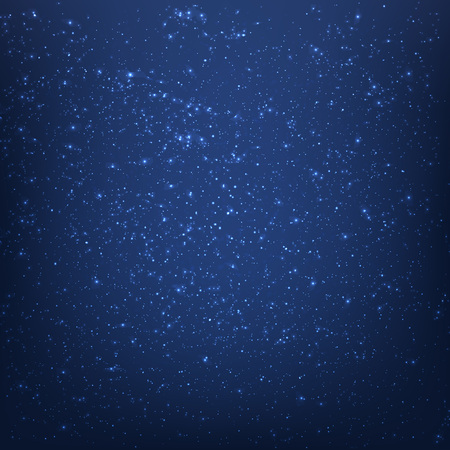 Blue Space Background With Gradient Mesh, Vector Illustration