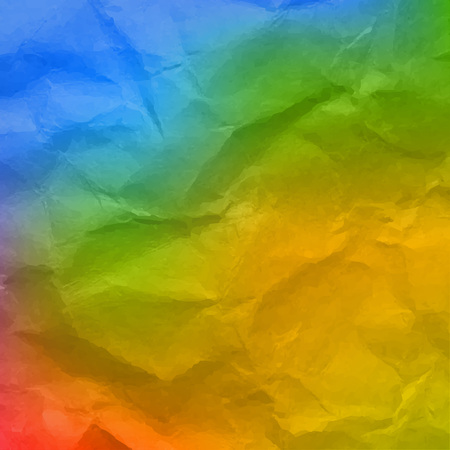Colorful Wrinkled Wallpaper With Gradient Mesh, Vector Illustration