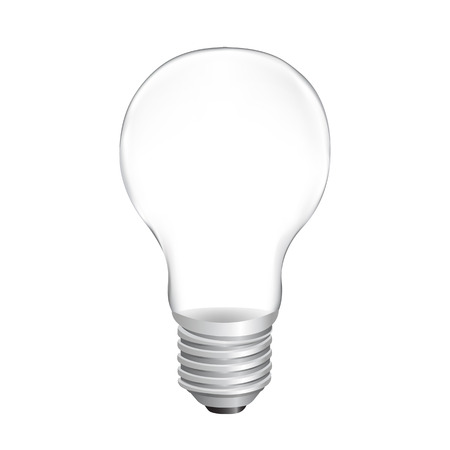 Bulb With White Background With Gradient Mesh, Vector Illustration