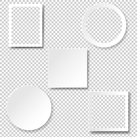 Frame Set Isolated Transparent Background With Gradient Mesh, Vector Illustration Vettoriali