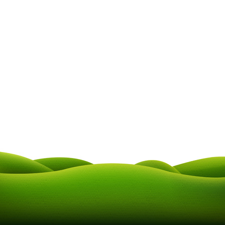 Green Landscape Isolated With Gradient Mesh, Vector Illustration  イラスト・ベクター素材