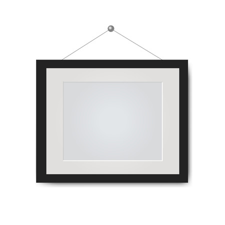 Picture Frame Isolated White Background With Gradient Mesh, Vector Illustration Stock Illustratie