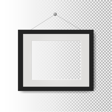 Picture Frame Transparent Background With Gradient Mesh, Vector Illustration Stock Illustratie