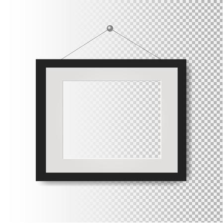 Picture Frame Transparent Background With Gradient Mesh, Vector Illustration Illustration