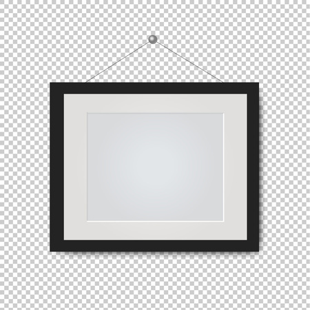 Picture Frame Isolated Transparent Background With Gradient Mesh, Vector Illustration