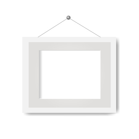 Picture Frame With White Background With Gradient Mesh, Vector Illustration