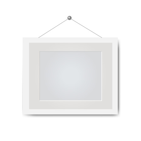 Picture Frame Isolated White Background With Gradient Mesh, Vector Illustration Illustration