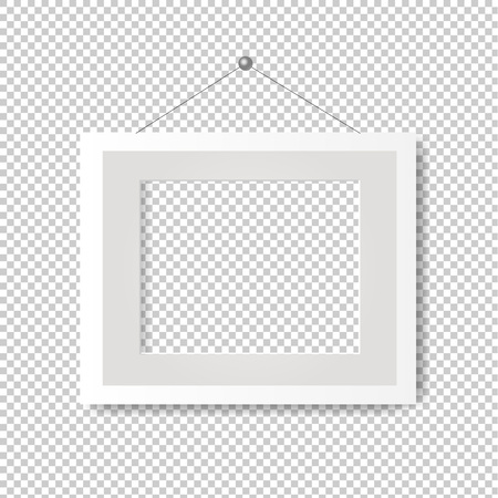 Picture Frame With Transparent Background With Gradient Mesh, Vector Illustration