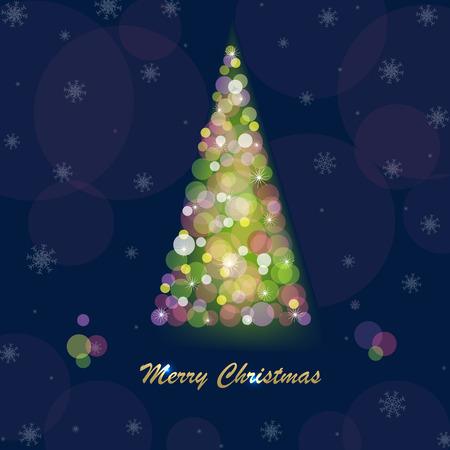 Merry Christmas Postcard design template