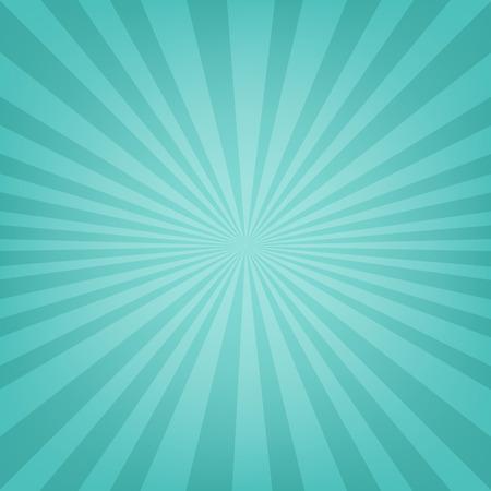 Mint Sunburst Banner With Gradient Mesh, Vector Illustration