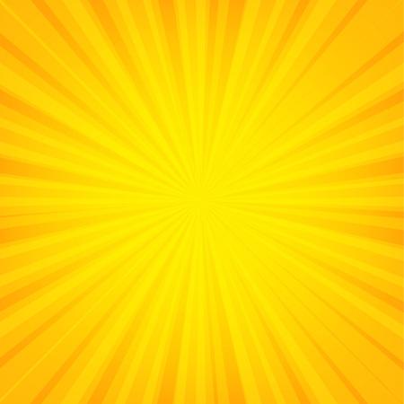 Banner Sunburst naranja con malla de degradado, ilustración vectorial
