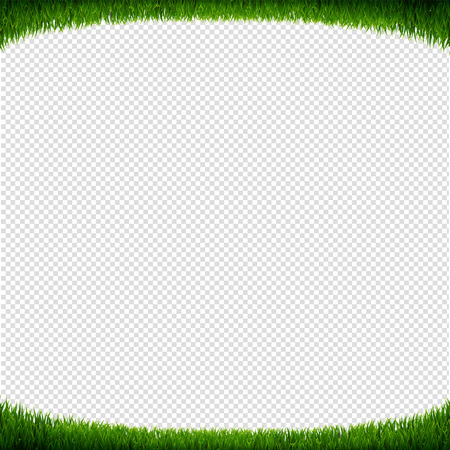 Green Grass Frame Transparent Background With Gradient Mesh, Vector Illustration 向量圖像