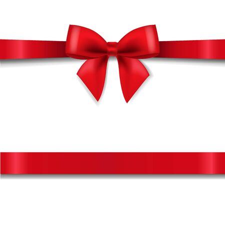 Fiocco Rosso Isolato Sfondo Bianco Con Maglia Gradiente, Illustrazione Vettoriale Vettoriali