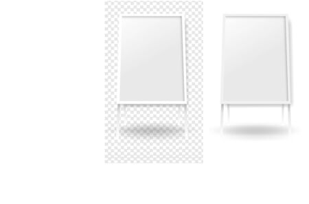 Mockup Banner Stend Isolated White And Transparent Background With Gradient Mesh, Vector Illustration