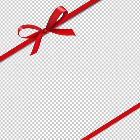 Red Silk Ribbons Isolated Transparent Background With Gradient Mesh, Vector Illustration 向量圖像