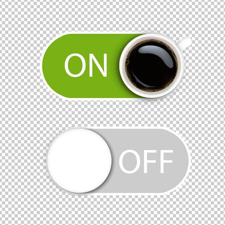On And Off Symbol Isolated Transparent Background With Gradient Mesh, Vector Illustration 向量圖像