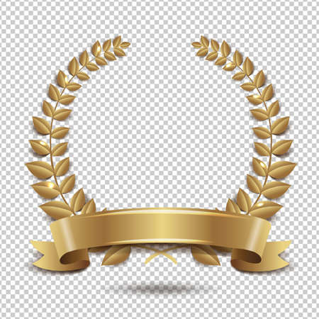 Laurel Wreath Isolated Transparent Background Vector Illustration
