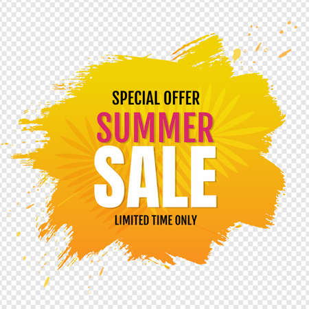 Sale Blob Banner With Transparent Background, Illustration