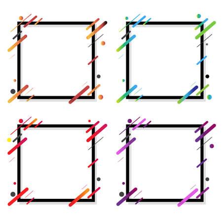 Web Banner Big Set Isolated White Background, Vector Illustration 向量圖像