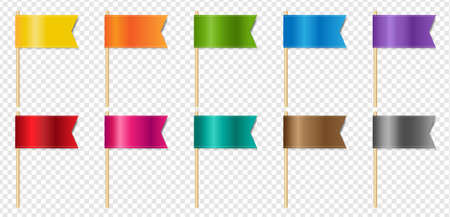 Silk Blue Ribbons Flags Isolated Transparent Background With Gradient Mesh, Vector Illustration
