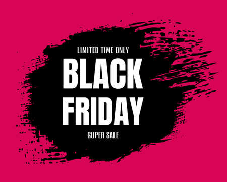 Black Friday Big Sale Poster, Vector Illustration