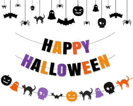 Halloween Border With Isolated Transparent Background, Vector Illustration