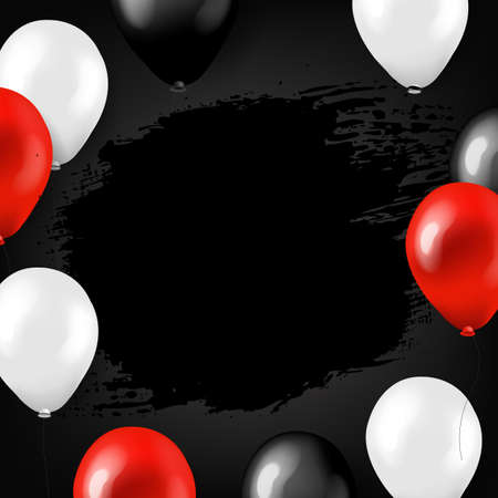 Black Friday Big Sale Poster With Balloons With Gradient Mesh, Vector Illustration 向量圖像