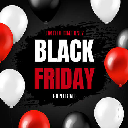Black Friday Big Sale Poster With Gradient Mesh, Vector Illustration