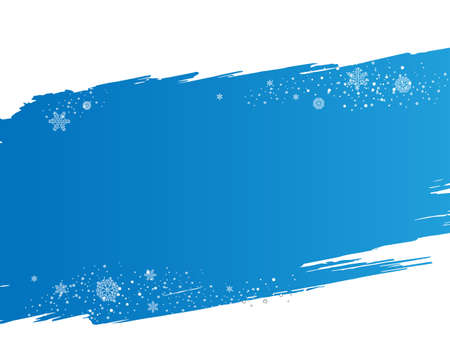 Background On Snowflakes And Blue Blobs, Vector Illustration