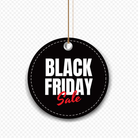 Black Friday Sale Tag Isolated Transparent Background With Gradient Mesh, Vector Illustration 向量圖像