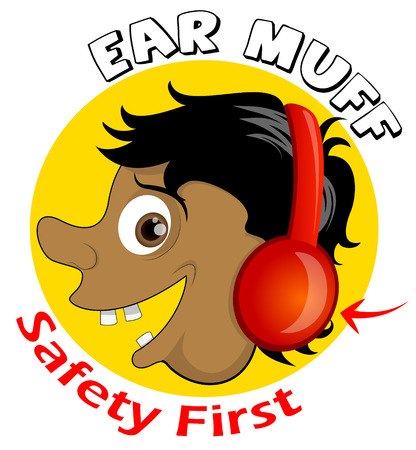 muff: Safety First Ear Muff Icon Illustration