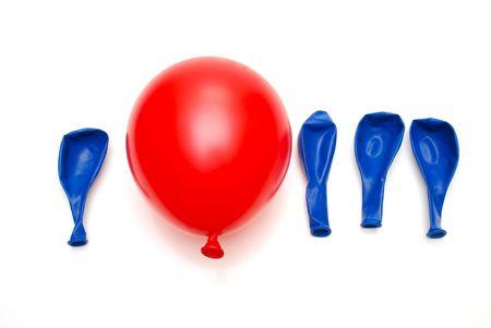 ユニークなコンセプトの赤い気球