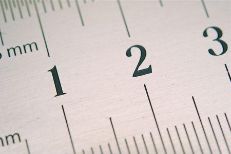 millimetre: close up of ruler