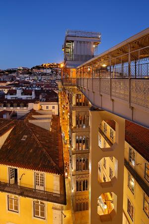 baixa: Santa Justa Lift or Carmo Lift (Elevador Elevador de Santa Justa or do Carmo) in Lisbon, Portugal.