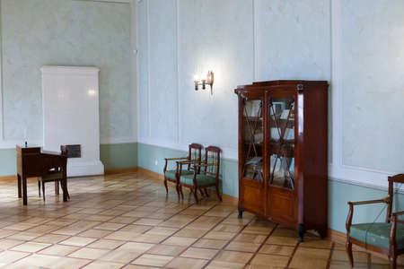 educational institution: ST. PETERSBURG, RUSSIA-APREL 24 2016: A communicating room of lyceum in Pushkin. Lyceum-strainnoye educational institution in which eminent persons of Russia were brought up