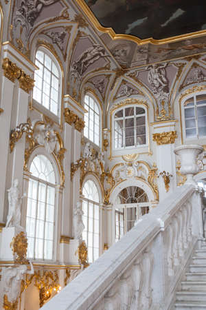SAINT PETERSBURG, RUSSIA - FEBRUARY 23: State Hermitage Museum, interior,FEBRUARY 23 2017.The Hermitage-largest istoichesky museum of Russia Editorial