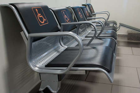 seats for disabled people in the modern terminal of Pulkovo Airport