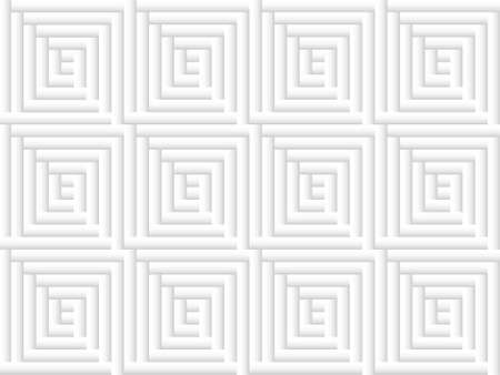 abstract gray background of squares nested in each other and built of gradient rectangles Ilustração