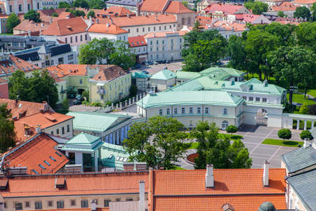 disctrict: Panoramic view of a house where lithuanian president resides in Vilnius Stock Photo