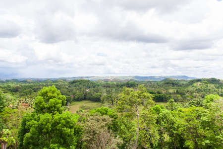 bohol: Chocolate hills in Bohol Philippines Stock Photo