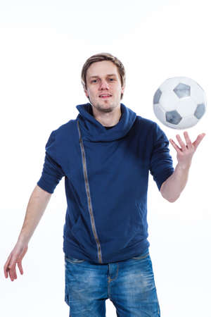 Young man with football