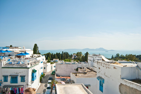 sidi bou said: Sidi Bou Said roofs view