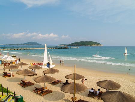 Yalong Bay beach at Hainan island Editorial