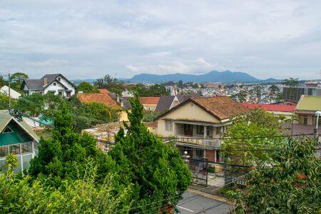 Da Lat mountain city view, Vietnam Stock Photo